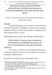REGISTRO DE Tamarixia radiatu (WATERSTON) (HYMENOPTERA ...