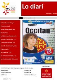Lo diari N°6 - IEO12 seccion departamentala d'Avairon