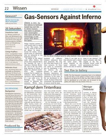Gas-Sensors Against Inferno - xirrus GmbH