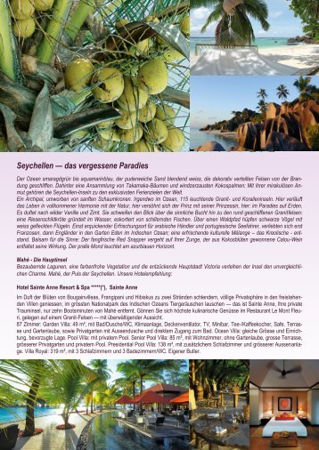 Seychellen — das vergessene Paradies - Zumstein Reisen