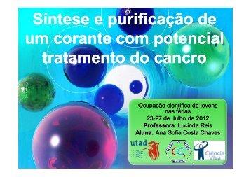 Síntese e purificação de um corante com potencial tratamento do ...