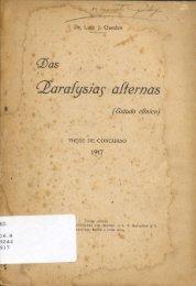 Cl!aralj;siaf affernas - Museu de História da Medicina do Rio Grande ...
