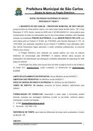 Download novo Edital - Prefeitura Municipal de São Carlos