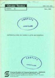 Empresa Brasileira de Pesquisa Agropecuária - Embrapa Rondônia