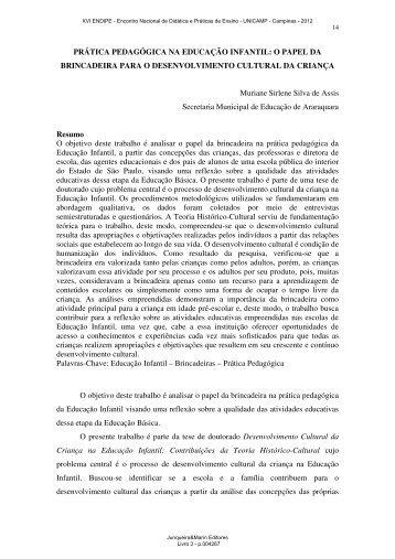 PRÁTICA PEDAGÓGICA NA EDUCAÇÃO INFANTIL: O PAPEL ... - 2