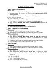 plano de higiene e limpeza - Agrupamento de Escolas de Alcácer ...
