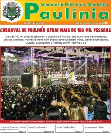 Mais de 150 mil pessoas brincaram o carnaval - Prefeitura ...