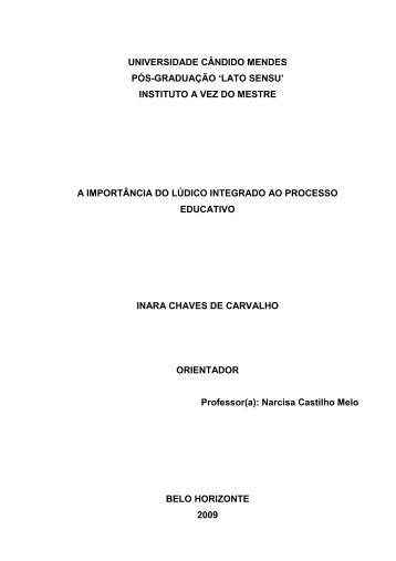 inara chaves de carvalho - AVM Faculdade Integrada