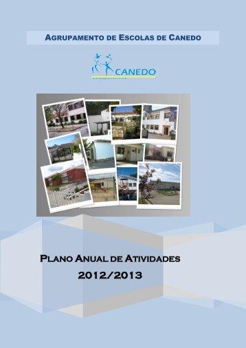 plano anual de atividades - Agrupamento de Escolas de Canedo