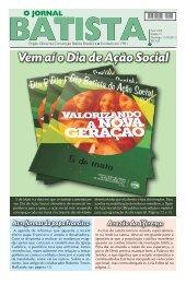 Vem aí o Dia de Ação Social - Convenção Batista Brasileira
