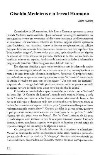 Giselda Medeiros e o Irreal Humano - Nilto Maciel