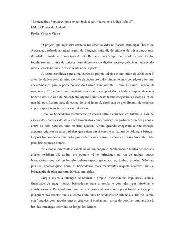 EMEB Thales de Andrade Profa. Viviane Vieir - Grupo de Pesquisas ...