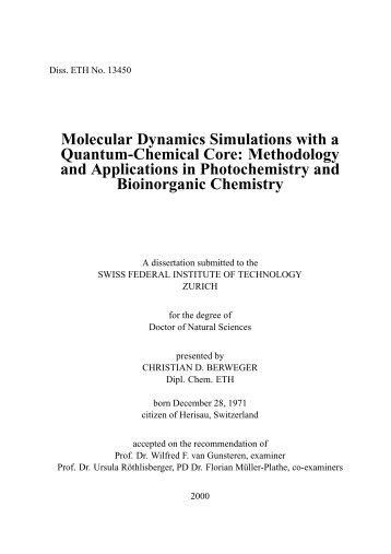 Molecular Dynamics Simulations with a Quantum ... - CiteSeer