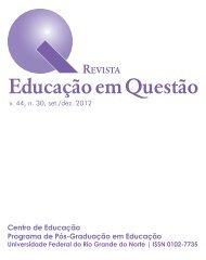 v. 44, n. 30, set./dez. 2012 - Revista Educação em Questão - UFRN