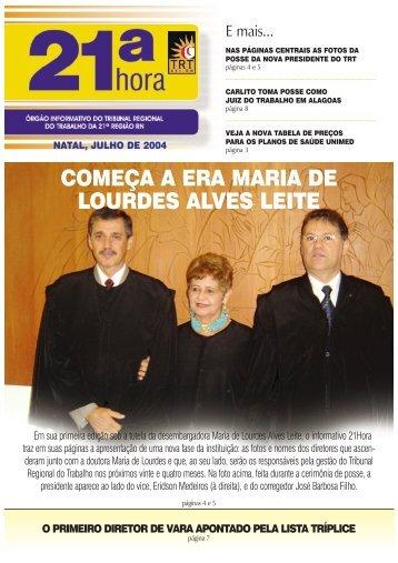 Jornal - Tribunal Regional do Trabalho da 21ª Região