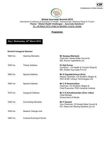 Global Ayurveda Summit 2010 - CII