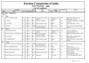 Election Commission of India - Indian Elections