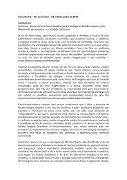 Caminhos, Descaminhos e novos desafios à TMI - Ronaldo - a FTL