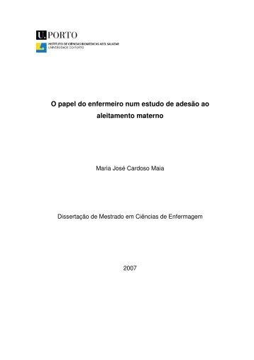 O papel do enfermeiro num estudo de adesão ao aleitamento materno