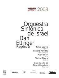 Orquestra Sinfônica de Israel Dan Ettinger - Cultura Artística
