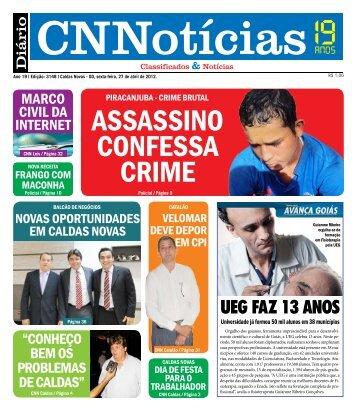 ASSASSINO CONFESSA CRIME - Caldas Novas