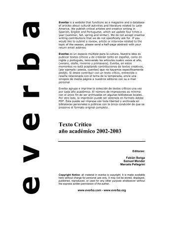 Texto Crítico año académico 2002-2003 - everba