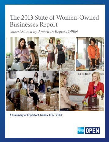 The 2013 State of Women-Owned Businesses Report