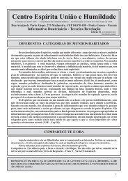Edição 36 - Fevereiro/2010 - CEUH - Centro Espirita Uniao e ...