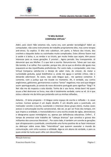O meu blogue - Câmara Municipal de Redondo