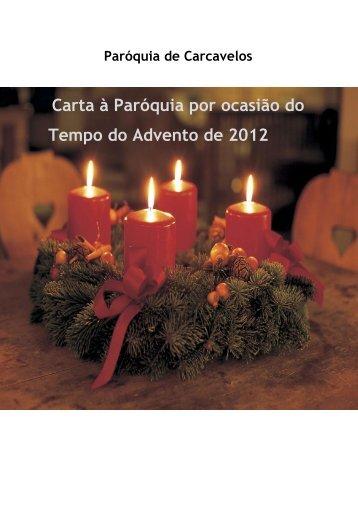 Carta à Paróquia por ocasião do Tempo do Advento de 2012