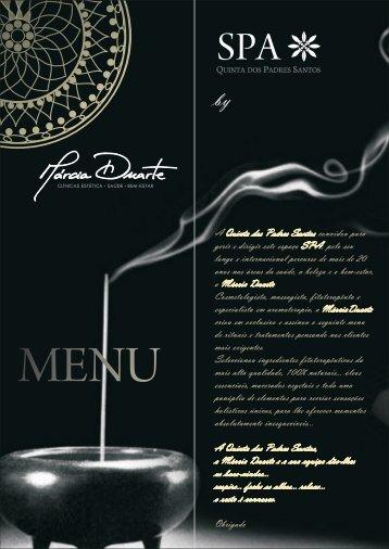 Download the menu in PDF - Quinta dos Padres Santos