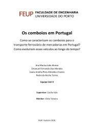 Os comboios em Portugal - Faculdade de Engenharia da ...