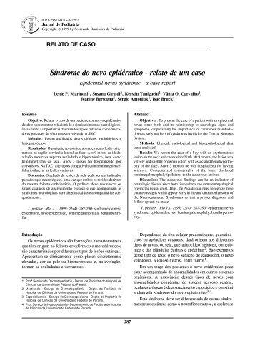 relato de um caso - Jornal de Pediatria