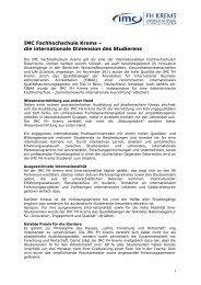 IMC Fachhochschule Krems -; Studium mit Top Berufsaussichten