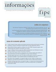 Edição 327 - dezembro de 2007 - Fipe