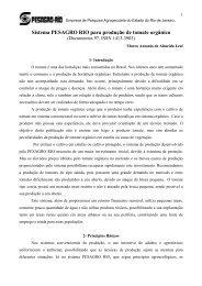 Sistema PESAGRO RIO para produção de tomate orgânico - Embrapa