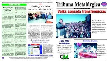 Tribuna 1695 - Sindicato dos Metalúrgicos do ABC