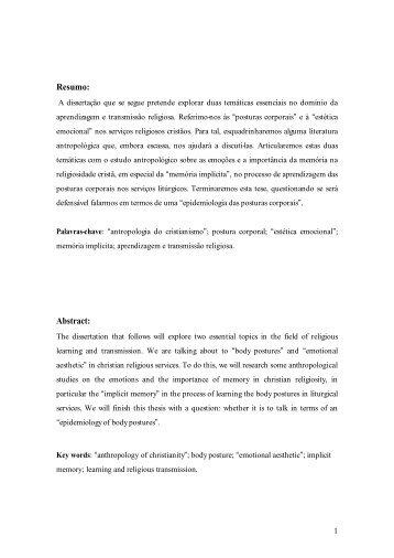 Resumo: Abstract: - Repositório da Universidade de Lisboa