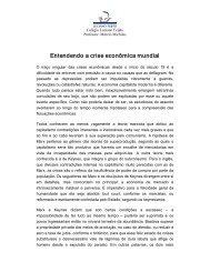 Entendendo a crise econômica mundial - Colégio Luciano Feijão