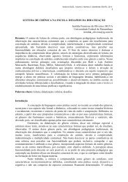 LEITURA DE CRÔNICA NA ESCOLA: DESAFIOS DA DIDATIZAÇÃO ...
