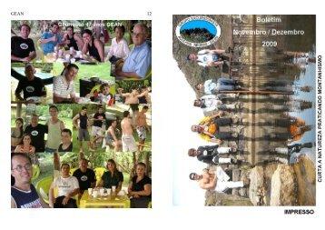 Novembro e Dezembro - Grupo Excursionista Agulhas Negras