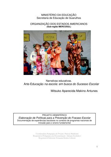 Arte-Educação na escola: em busca do Sucesso Escolar Mitsuko ...