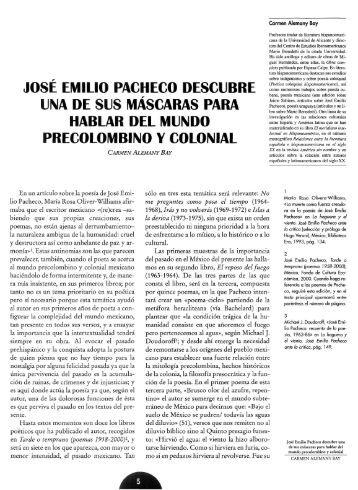 josé emilio pacheco descubre - RUA - Universidad de Alicante