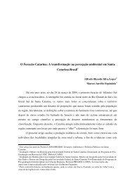 O Furacão Catarina - XI Encontro Nacional de História Oral