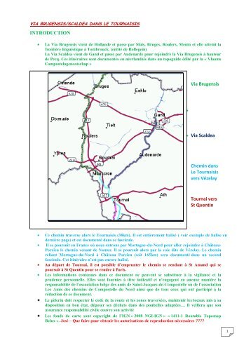 Via Brugensis/Scaldea - Amis de Saint Jacques de Compostelle