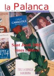 Sant Jordi 2002: roses i llibres - La Palanca