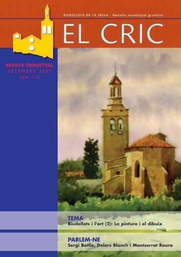 El Cric nº 112 setembre - Ajuntament de Riudellots de la Selva