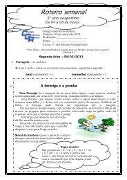 04 a 08 de Março - 5º Ano Vesp - Colégio Guilherme Ramos