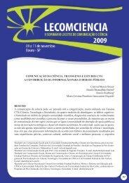 83 ComuniCação da CiênCia, transgenia e estudos Cts: a ... - Unesp