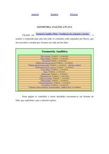GEOMETRIA ANALTICA PLANA